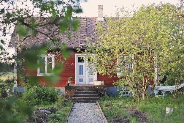 Фотография: Архитектура в стиле , Декор интерьера, Дом, Швеция, Дача, Розовый, как оформить летний дом – фото на InMyRoom.ru