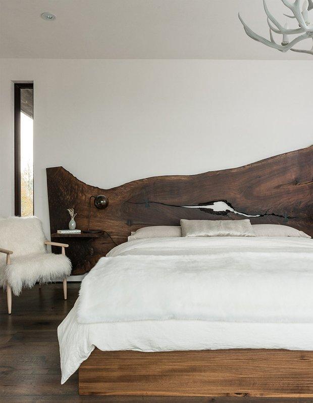 Фотография: Спальня в стиле Современный, Дом, Дома и квартиры, Дом на природе – фото на INMYROOM