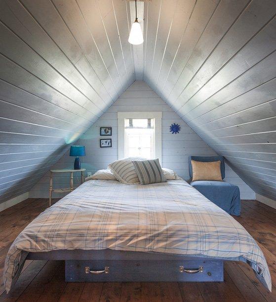Фотография: Спальня в стиле , Дом, Чердак, Мансарда – фото на InMyRoom.ru