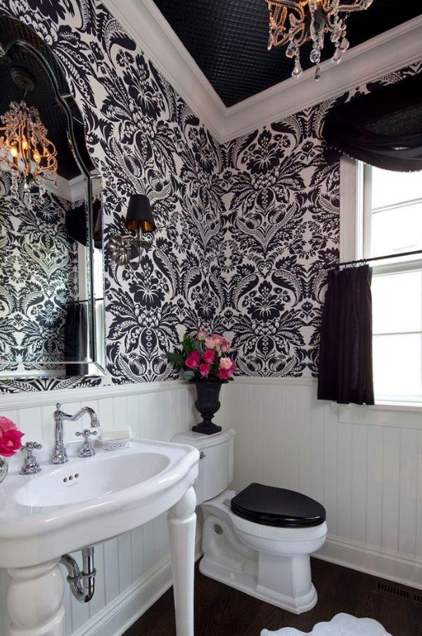 Фотография: Ванная в стиле Прованс и Кантри, Декор интерьера, Дизайн интерьера, Цвет в интерьере, Потолок – фото на INMYROOM