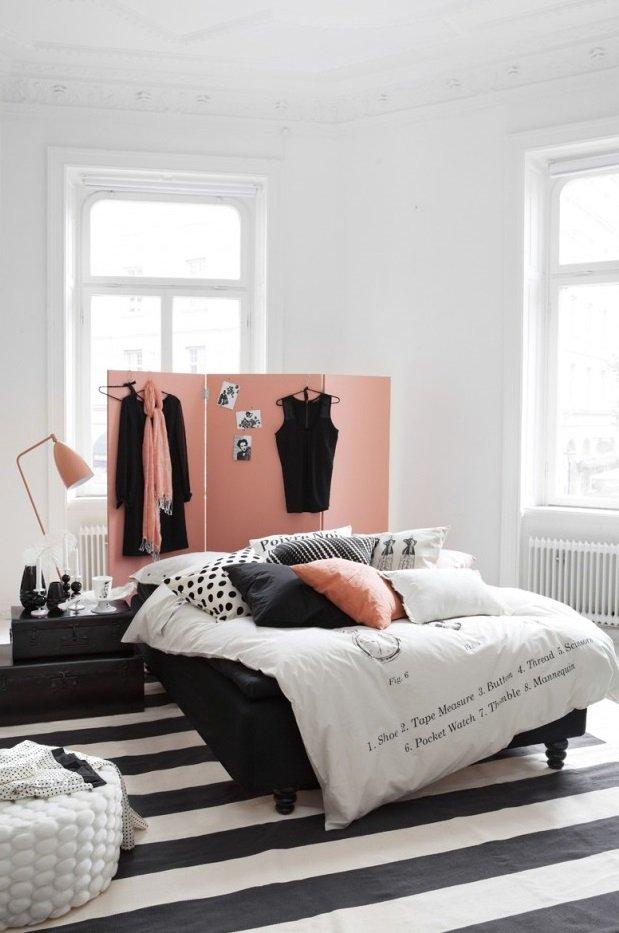 Фотография: Спальня в стиле Скандинавский, Современный, Эклектика, Декор интерьера, Малогабаритная квартира, Квартира, Советы – фото на INMYROOM