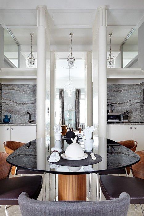 Фотография: Кухня и столовая в стиле Эклектика, Квартира, Дома и квартиры, Перепланировка – фото на INMYROOM