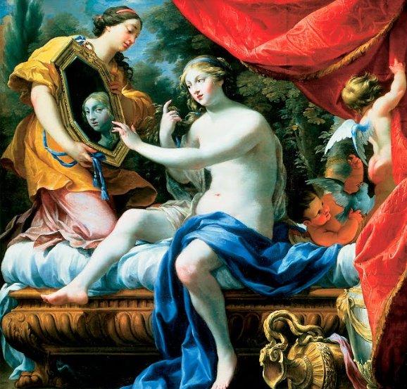 Симон Вуэ. «Туалет Венеры». 1629 год. Фрагмент