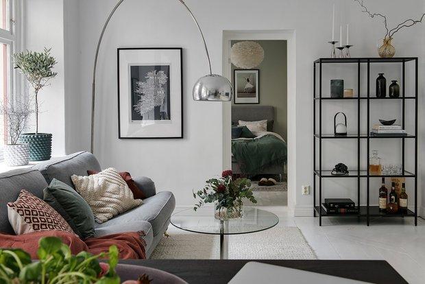 Фотография: Гостиная в стиле Скандинавский, Декор интерьера, Квартира, Швеция, 2 комнаты, 40-60 метров, Alvhem – фото на InMyRoom.ru