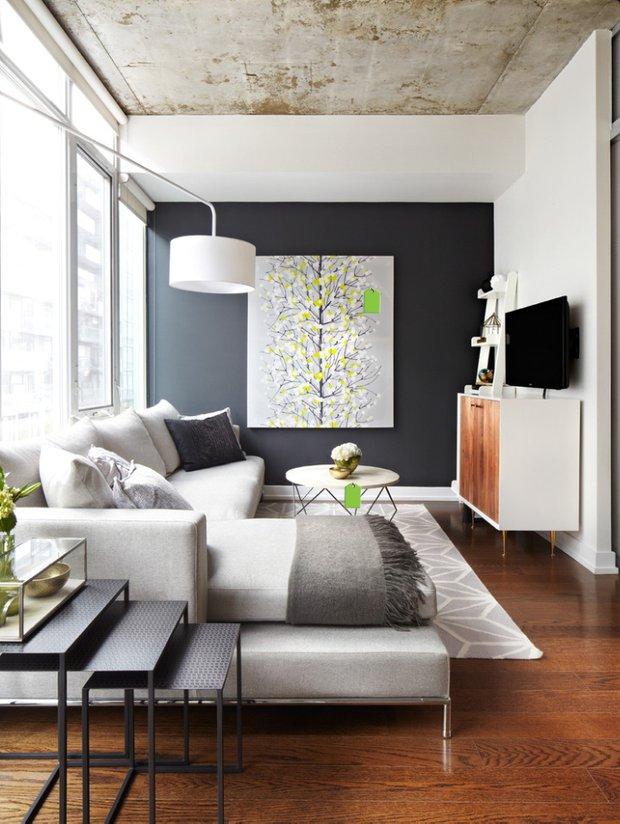 Фотография: Гостиная в стиле Лофт, Современный, Декор интерьера, Архитектурные объекты, Потолок – фото на InMyRoom.ru