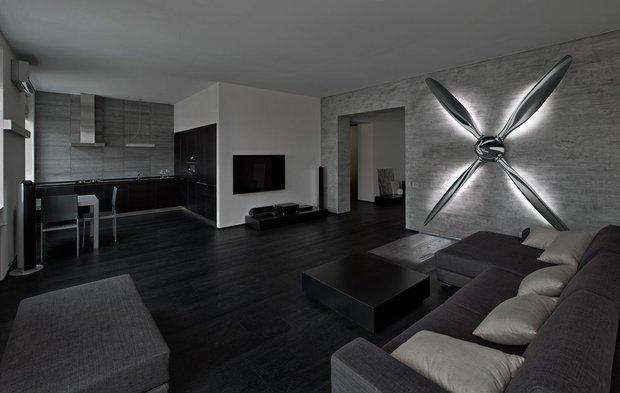 Фотография: Гостиная в стиле Современный, Декор интерьера, Мебель и свет, Светильник – фото на INMYROOM