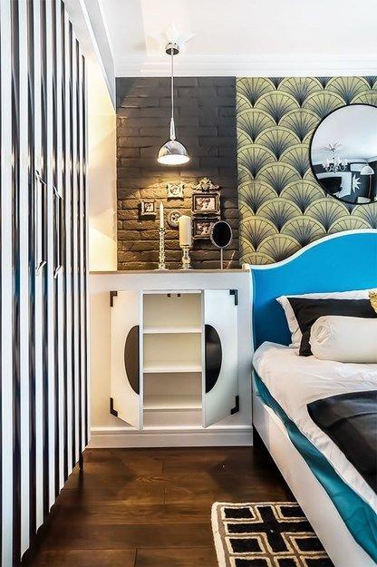 Фотография:  в стиле , Спальня, Декор интерьера, Интерьер комнат, Ар-деко – фото на INMYROOM