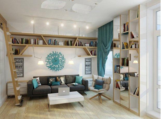 Фотография: Гостиная в стиле Лофт, Современный, Скандинавский, Гид – фото на INMYROOM