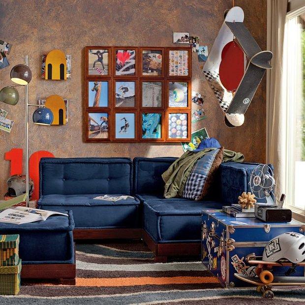 Фотография: Гостиная в стиле Лофт, Детская, Интерьер комнат – фото на INMYROOM