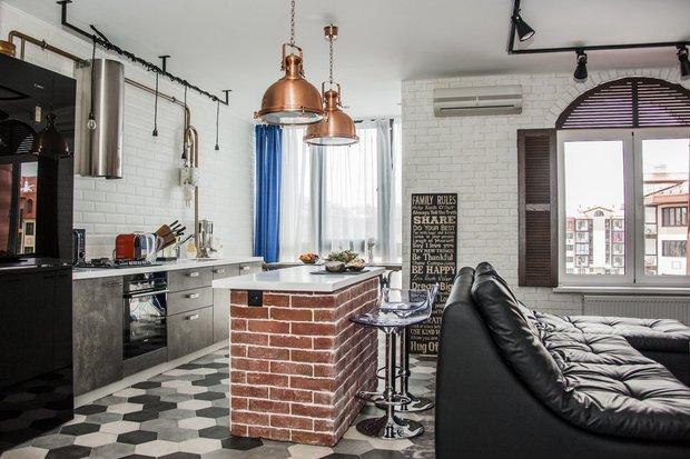 Фотография: Кухня и столовая в стиле Лофт, Квартира, Студия, Советы, Гид – фото на INMYROOM