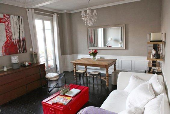 Фотография: Гостиная в стиле Прованс и Кантри, Малогабаритная квартира, Квартира, Дома и квартиры, Переделка, Париж – фото на INMYROOM