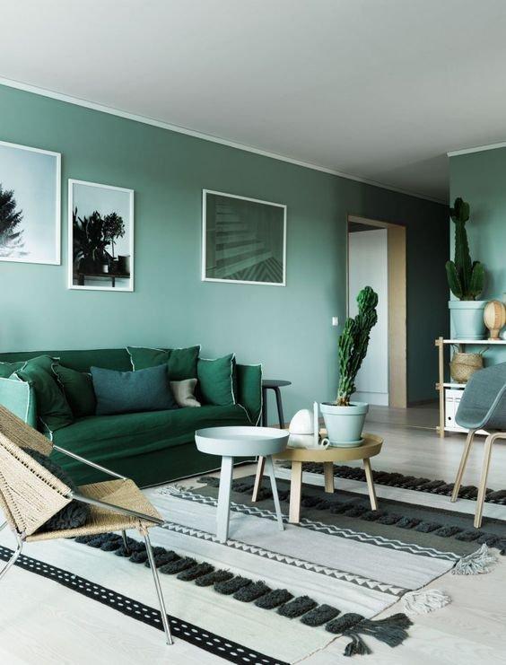 Фотография: Гостиная в стиле Скандинавский, Советы, Зеленый – фото на INMYROOM