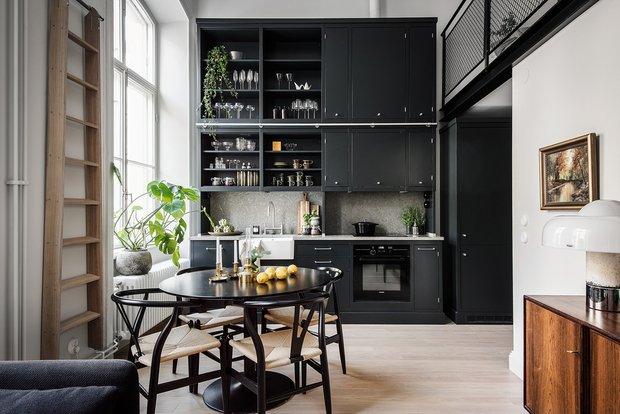 Фотография: Кухня и столовая в стиле Скандинавский, Лофт, Декор интерьера, Квартира, Студия, Стокгольм, 40-60 метров – фото на InMyRoom.ru