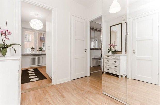 Фотография: Прихожая в стиле Скандинавский, Малогабаритная квартира, Квартира, Швеция, Дома и квартиры, Стокгольм – фото на InMyRoom.ru