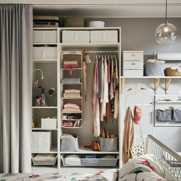 Фотография: Спальня в стиле Скандинавский, Гид, лайфхаки, ИКЕА, хранение вещей – фото на INMYROOM