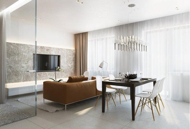 Фотография: Кухня и столовая в стиле Современный, Декор интерьера, DIY, Малогабаритная квартира, Квартира, Белый, Бежевый, Серый – фото на INMYROOM