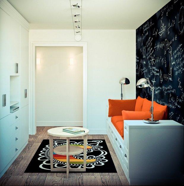 Фотография: Гостиная в стиле Лофт, Архитектура, Планировки, Аксессуары, Декор, Мебель и свет, Гид – фото на InMyRoom.ru