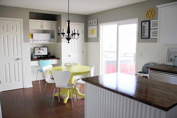 Фотография: Кухня и столовая в стиле Скандинавский, Мебель и свет, Переделка – фото на INMYROOM