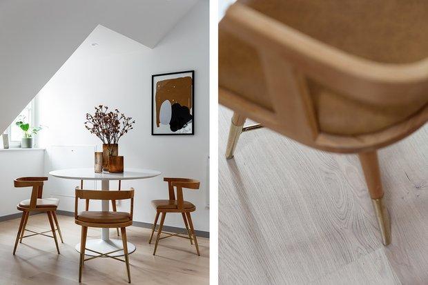Фотография:  в стиле , Кухня и столовая, Гостиная, Кабинет, Декор интерьера, Квартира, Белый, Серый, 2 комнаты – фото на INMYROOM