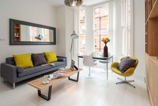 Фотография: Гостиная в стиле Современный, Декор интерьера, Малогабаритная квартира, Квартира, Дома и квартиры, Лондон, Квартиры – фото на INMYROOM
