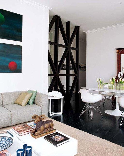 Фотография: Гостиная в стиле Скандинавский, Декор интерьера, Мебель и свет, Перегородки – фото на INMYROOM