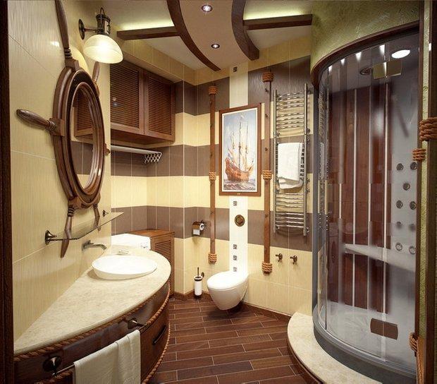 Фотография: Ванная в стиле Современный, Декор интерьера, Часы, Декор дома, Ткани, Галерея Арбен, Морской, Лампы – фото на INMYROOM