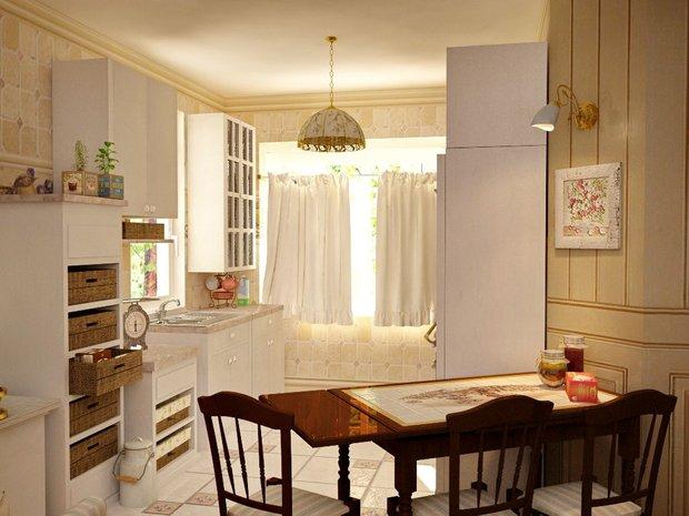 Фотография: Кухня и столовая в стиле Прованс и Кантри, Современный, Дом, Дома и квартиры – фото на InMyRoom.ru