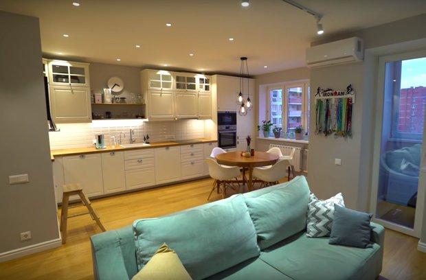 Фотография: Кухня и столовая в стиле Скандинавский, Детская, Спальня, Гардеробная, Ремонт на практике, 3 комнаты – фото на INMYROOM