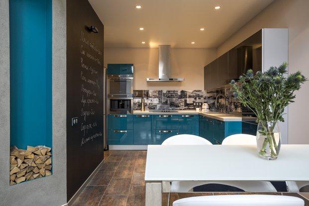 Фотография: Кухня и столовая в стиле Лофт, Квартира, Проект недели – фото на INMYROOM