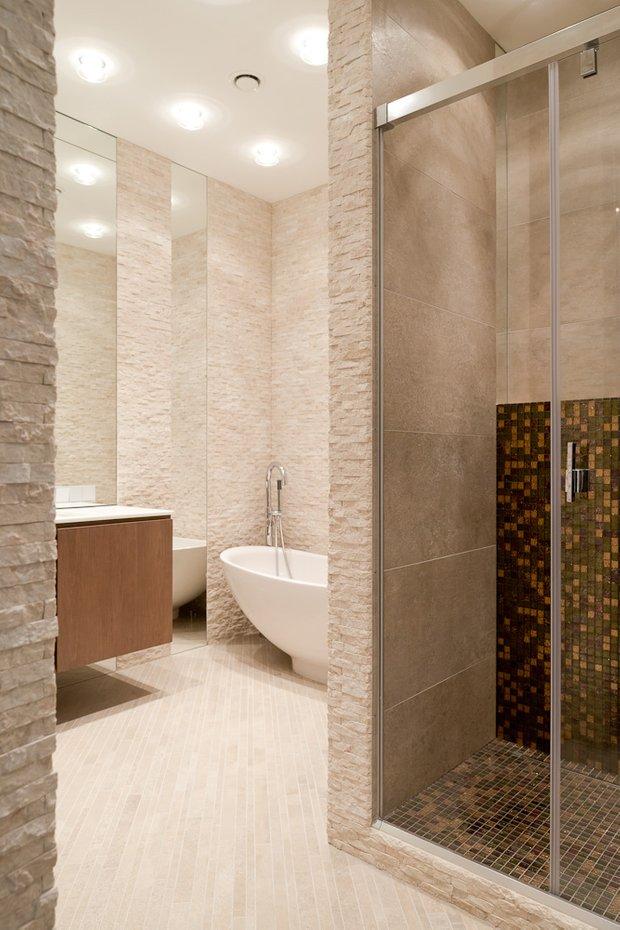 Фотография: Ванная в стиле Минимализм, Эко, Классический, Квартира, Проект недели, Москва, Бежевый – фото на INMYROOM