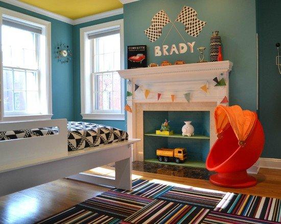 Фотография: Детская в стиле Современный, Декор интерьера, Декор дома, Камин – фото на INMYROOM