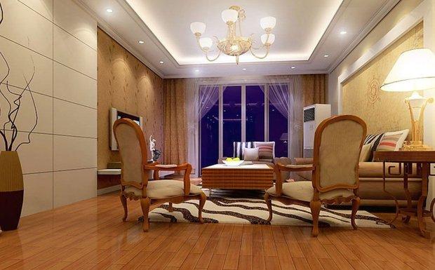 Фотография: Гостиная в стиле Классический, Современный, Интерьер комнат, Мебель и свет, Подсветка, Торшер – фото на INMYROOM