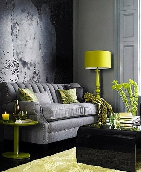 Фотография: Гостиная в стиле Эклектика, Декор интерьера, Дизайн интерьера, Цвет в интерьере, Желтый – фото на InMyRoom.ru