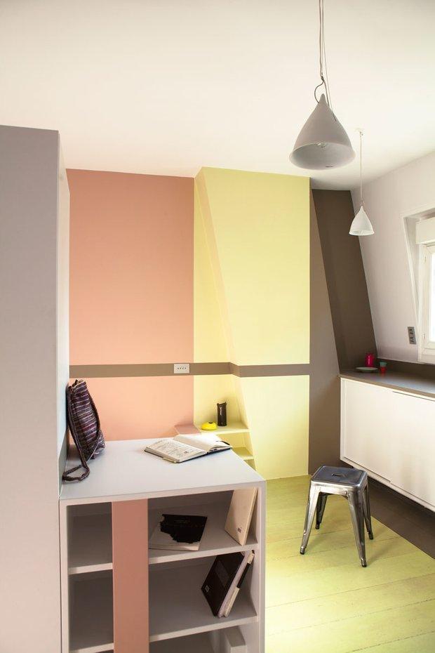 Фотография:  в стиле Современный, Малогабаритная квартира, Квартира, Франция, Планировки, Дома и квартиры, Париж – фото на INMYROOM