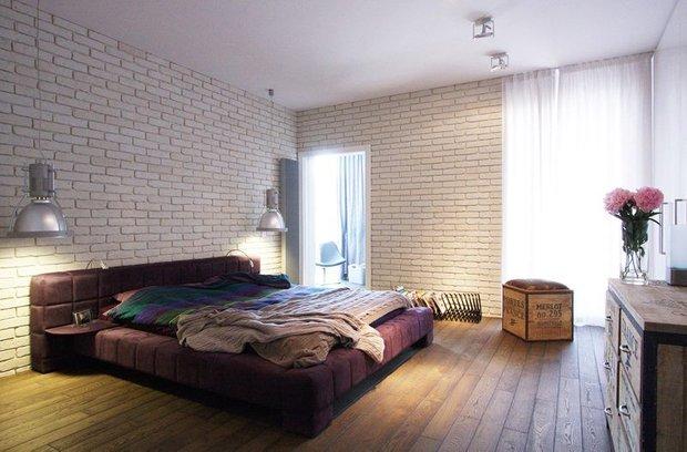 Фотография: Спальня в стиле Лофт, Современный, Квартира, Дома и квартиры, Индустриальный, Польша – фото на INMYROOM