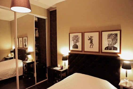 Фотография: Спальня в стиле Современный, Малогабаритная квартира, Квартира, Дома и квартиры, Переделка, Париж – фото на INMYROOM