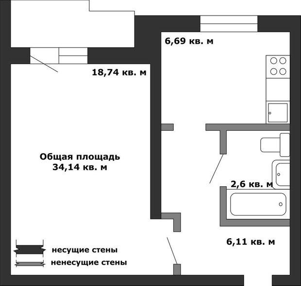 Фотография:  в стиле , Перепланировка, Анастасия Киселева, Максим Джураев, II-57 – фото на INMYROOM
