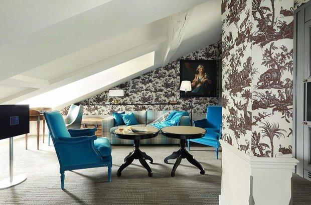 Фотография: Гостиная в стиле Современный, Спальня, Франция, Дома и квартиры, Городские места, Отель – фото на INMYROOM