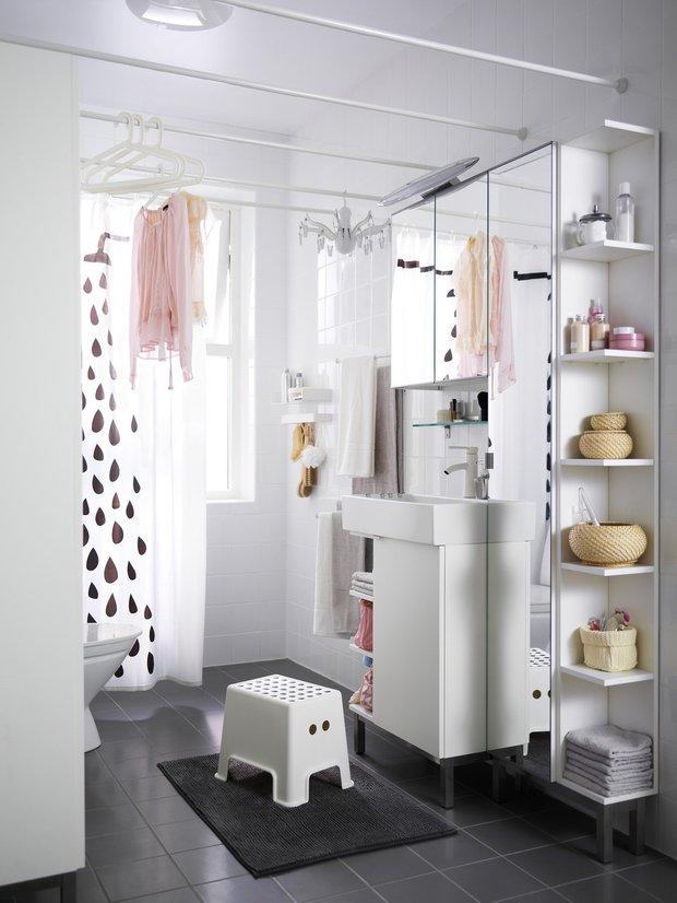 Фотография: Ванная в стиле Скандинавский, Интерьер комнат, Советы, IKEA, Зеркала – фото на INMYROOM