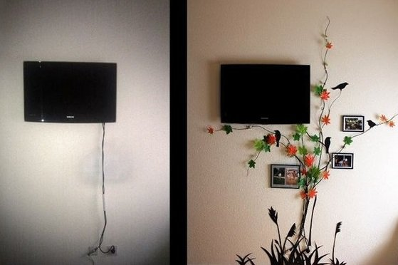 Фотография: Аксессуары в стиле Современный, Декор интерьера, DIY, Декор, Советы, лайфхак, как спрятать провода – фото на INMYROOM