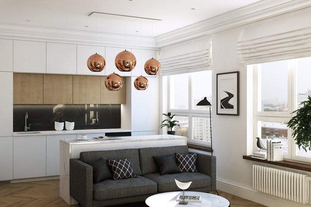 Фотография: Кухня и столовая в стиле Эко, Малогабаритная квартира, Советы, Алексей Иванов, Geometrium – фото на INMYROOM