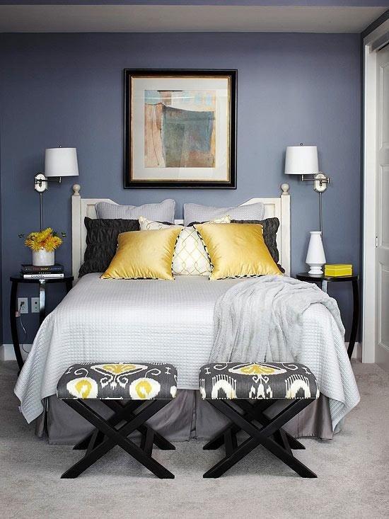 Фотография: Спальня в стиле Современный, Эклектика, Декор интерьера, Дизайн интерьера, Цвет в интерьере – фото на INMYROOM