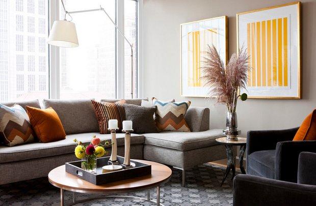 Фотография: Гостиная в стиле Современный, Декор интерьера, Дом, Декор дома, Текстиль – фото на INMYROOM