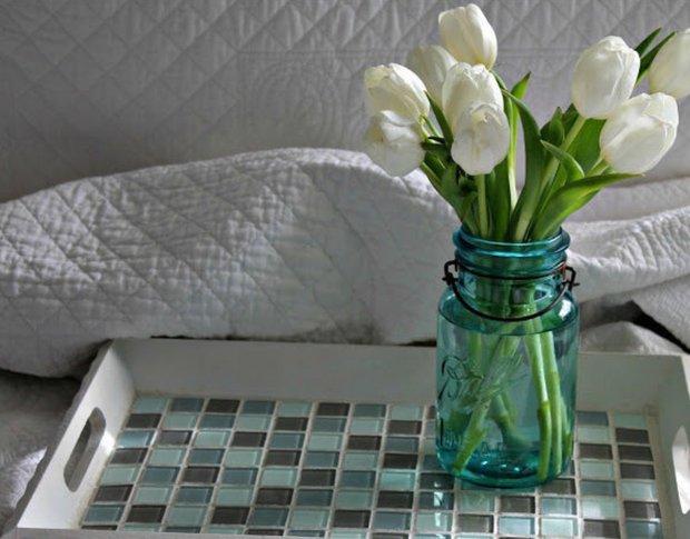 Фотография:  в стиле , Декор интерьера, DIY, Декор, handmade декор, бюджетные идеи декора, что делать с остатками плитки – фото на INMYROOM