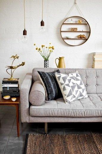 Фотография:  в стиле , Гостиная, Советы, идеи для маленькой гостиной, дизайн малогабаритки – фото на INMYROOM