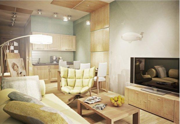 Фотография: Гостиная в стиле Современный, Эко, Декор интерьера, DIY, Малогабаритная квартира, Квартира, Белый, Бежевый, Серый – фото на INMYROOM
