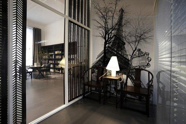 Фотография: Мебель и свет в стиле Современный, Гостиная, Интерьер комнат, Картины, Зеркало – фото на INMYROOM