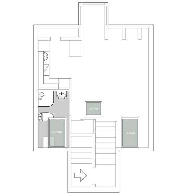 Фотография: Планировки в стиле , Скандинавский, Декор интерьера, Квартира, Студия, Белый, Бежевый, Серый, интерьер мансарды, до 40 метров, Эмма Фишер – фото на INMYROOM