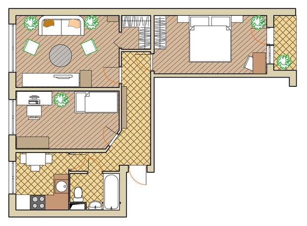 Фотография: Планировки в стиле , Малогабаритная квартира, Квартира, Дома и квартиры, Перепланировка, Переделка, II-49 – фото на INMYROOM