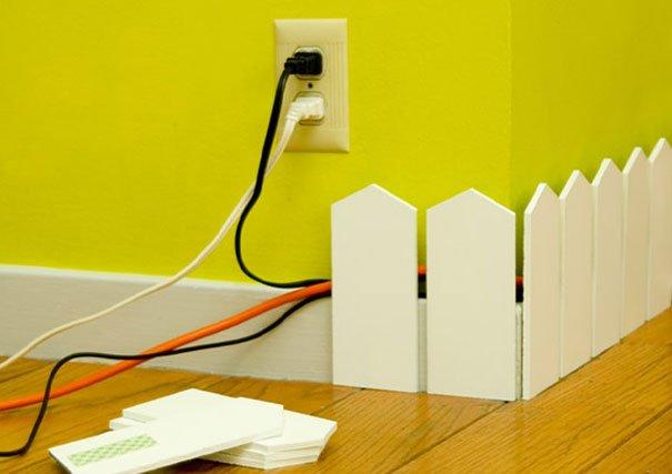 Фотография:  в стиле , Декор интерьера, DIY, Аксессуары, Декор, Советы, лайфхак, как спрятать провода – фото на INMYROOM